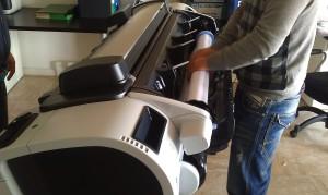 Plotter HP assistenza designjet T610 Roma 0698353210
